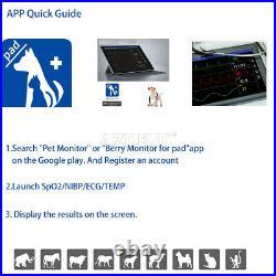 SPO2 Bluetooth Veterinary Equipment Animal Handheld Patient Monitor ECG Medical