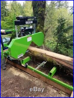 Saw Mill Sawmill Bandmill Portable 301cc Gas Engine cuts 20 in. Diameter Horizon