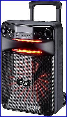 Sound System 12 Portable Bluetooth Wireless PA Speaker Microphone DJ Equipment