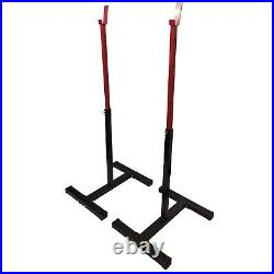 Squat Racks Weight Adjustable Lifting Stands Barbell Home Gym Equipment Portable