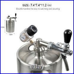 Stainless Steel Portable Mini Beer Keg Dispenser Kegerator Kit Home Brewing Beer