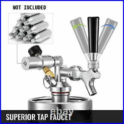 VEVOR Portable Mini Beer Keg Dispenser Kegerator Kit 2/4/5 L Home Brewing Beer