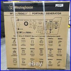 Westinghouse Outdoor Power Equipment WGen7500DF Dual Fuel Portable Generator